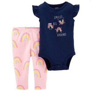 "NWT Carter's ""Smiles All Around"" 2-pc Legging Set"